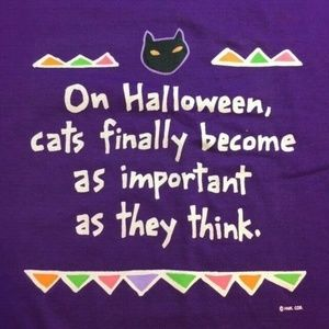 Vintage Hallmark Cat Halloween Shirt